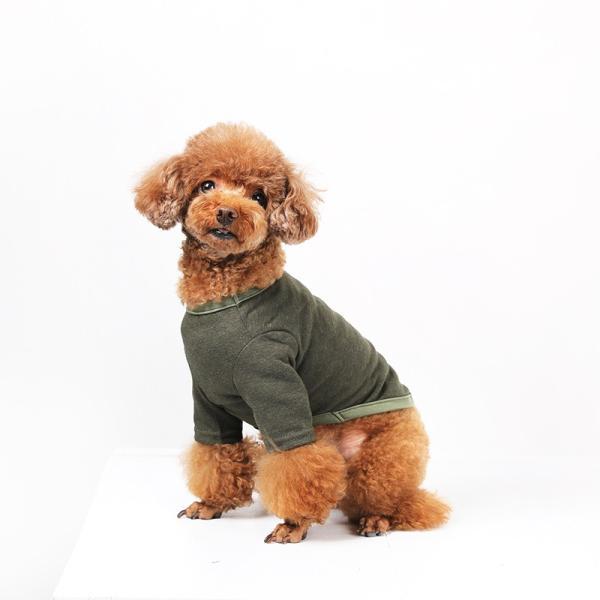 BF コットンカーキTS       犬 服 犬の服 ドッグウェア Tシャツ シンプル ライン  薄手 コットン 綿 生地 伸縮 伸びる 無地|best-friends|03