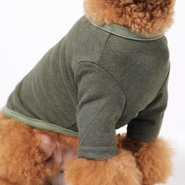 BF コットンカーキTS       犬 服 犬の服 ドッグウェア Tシャツ シンプル ライン  薄手 コットン 綿 生地 伸縮 伸びる 無地|best-friends|04