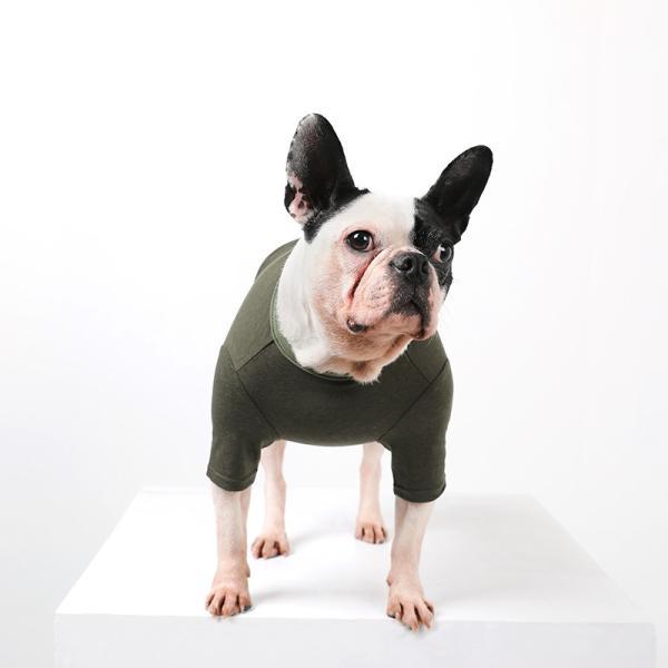 BF コットンカーキTS       犬 服 犬の服 ドッグウェア Tシャツ シンプル ライン  薄手 コットン 綿 生地 伸縮 伸びる 無地|best-friends|07