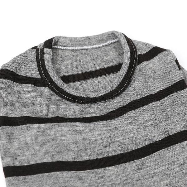 BF ボーダーグレーTシャツ       犬 服 犬の服 ドッグウェア Tシャツ シンプル ライン  薄手 生地 伸縮 伸びる コットン 綿100% ボーダー|best-friends|12