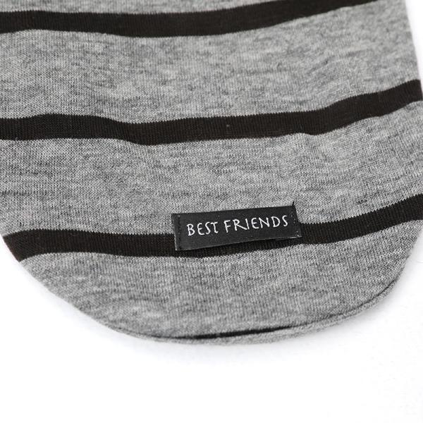 BF ボーダーグレーTシャツ       犬 服 犬の服 ドッグウェア Tシャツ シンプル ライン  薄手 生地 伸縮 伸びる コットン 綿100% ボーダー|best-friends|13