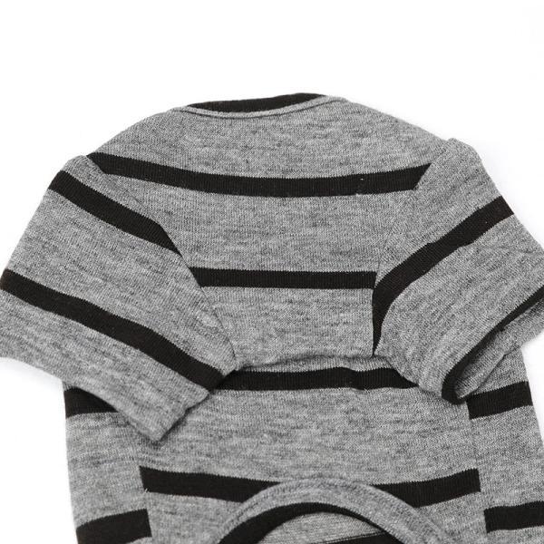 BF ボーダーグレーTシャツ       犬 服 犬の服 ドッグウェア Tシャツ シンプル ライン  薄手 生地 伸縮 伸びる コットン 綿100% ボーダー|best-friends|14