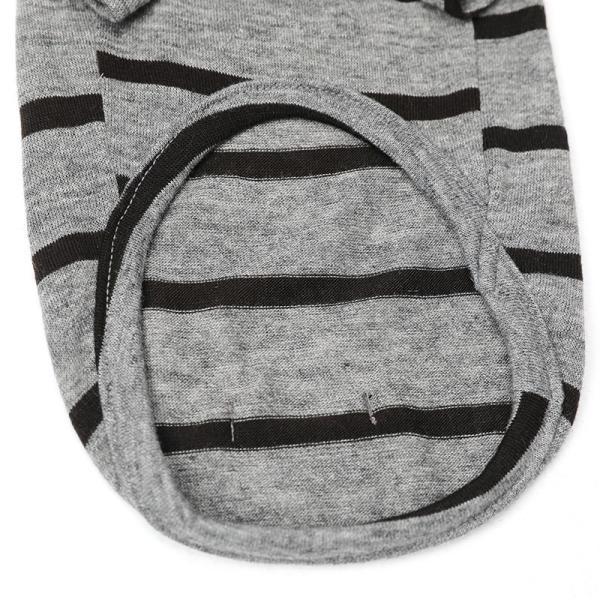 BF ボーダーグレーTシャツ       犬 服 犬の服 ドッグウェア Tシャツ シンプル ライン  薄手 生地 伸縮 伸びる コットン 綿100% ボーダー|best-friends|15