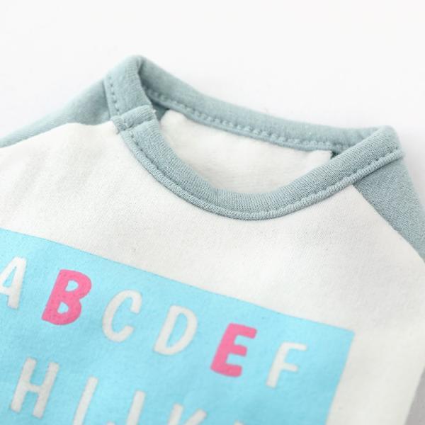 アルファベットラグランTシャツ     ,XXL  犬 服 犬の服 ドッグウェア Tシャツ  秋 冬 おしゃれ かわいい パステル コットン 綿100% プリント|best-friends|12