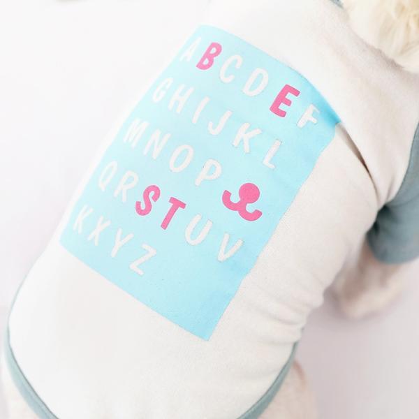 アルファベットラグランTシャツ     ,XXL  犬 服 犬の服 ドッグウェア Tシャツ  秋 冬 おしゃれ かわいい パステル コットン 綿100% プリント|best-friends|06
