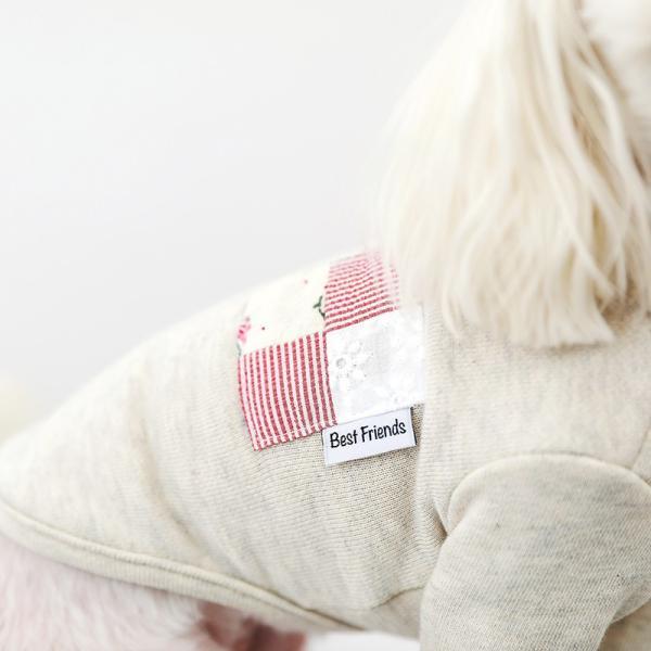 オートミールポケットパッチTS    ,XXL  犬 服 犬の服 ドッグウェア Tシャツ  秋 冬 おしゃれ かわいい おしゃれ キレイめ コットン 綿100% ポケット|best-friends|06