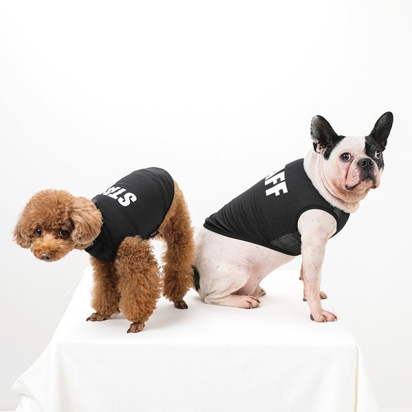 STAFF クールメッシュタンク   犬服 犬の服 ドッグウェア夏 タンクトップ ノースリーブ スタッフ  クール メッシュ|best-friends|02