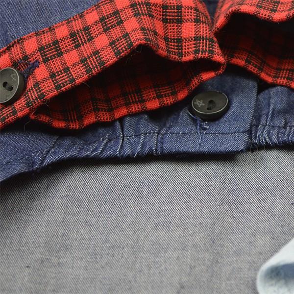 デニムチェックシャツ / 犬 服 犬の服 ドッグウェア 洋服 おしゃれ Yシャツ コットン 綿100%|best-friends|06