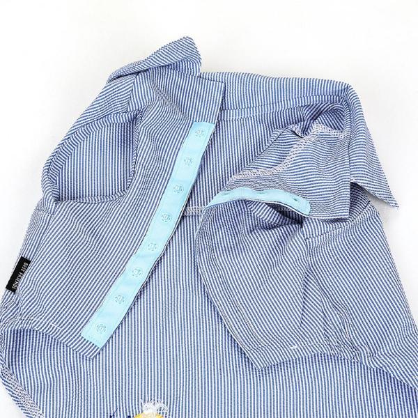 シアサッカー ストライプ シャツ      犬 服 夏 クール 犬の服 ドッグウェア シャツ おしゃれ スナップボタン best-friends 15