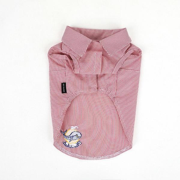 シアサッカー ストライプ シャツ      犬 服 夏 クール 犬の服 ドッグウェア シャツ おしゃれ スナップボタン best-friends 17