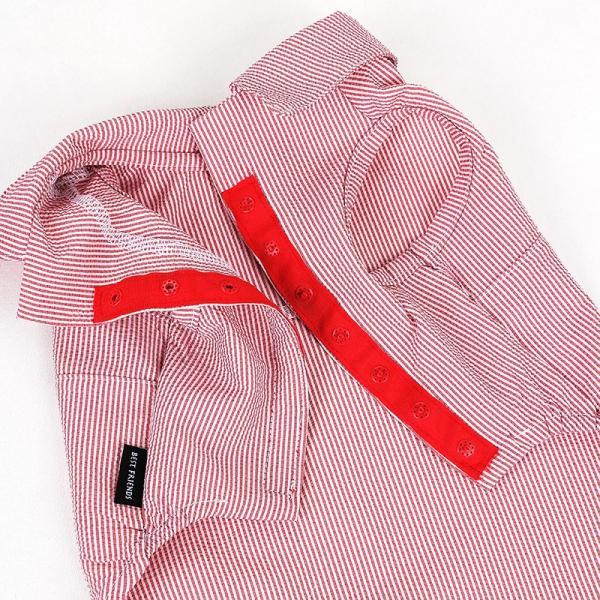 シアサッカー ストライプ シャツ      犬 服 夏 クール 犬の服 ドッグウェア シャツ おしゃれ スナップボタン best-friends 20