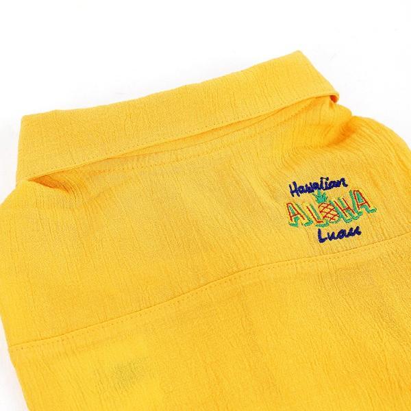 シアサッカー アロハシャツ      犬 服 夏 クール 犬の服 ドッグウェア シャツ おしゃれ スナップボタン|best-friends|12