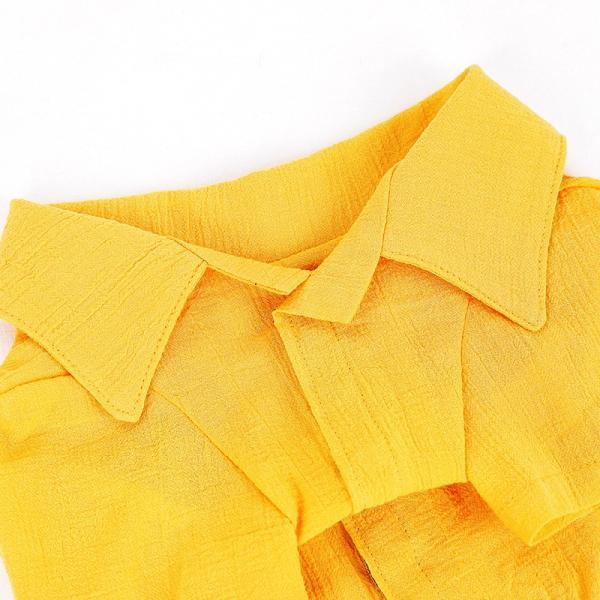 シアサッカー アロハシャツ      犬 服 夏 クール 犬の服 ドッグウェア シャツ おしゃれ スナップボタン|best-friends|13