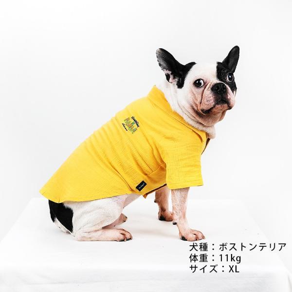 シアサッカー アロハシャツ      犬 服 夏 クール 犬の服 ドッグウェア シャツ おしゃれ スナップボタン|best-friends|05