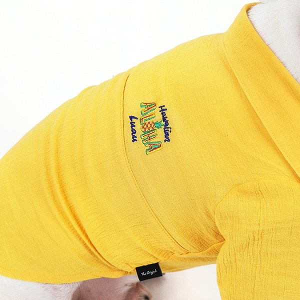 シアサッカー アロハシャツ      犬 服 夏 クール 犬の服 ドッグウェア シャツ おしゃれ スナップボタン|best-friends|09