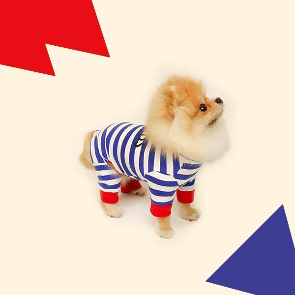 ロゴプリントボーダーロンパース   S,SM,M,L,XL,XXL 犬 服 犬の服 ドッグウェア 秋 冬 ボーダー カバーオール つなぎ 綿100% 伸縮性抜群|best-friends|12
