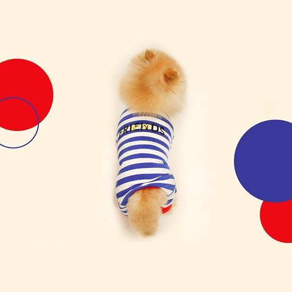 ロゴプリントボーダーロンパース   S,SM,M,L,XL,XXL 犬 服 犬の服 ドッグウェア 秋 冬 ボーダー カバーオール つなぎ 綿100% 伸縮性抜群|best-friends|13
