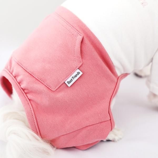ツートーンポケットロンパース     犬 服 犬の服 ドッグウェア  ロンパース かわいい おしゃれ 秋 冬 ロールアップ 刺繍 パステル|best-friends|12