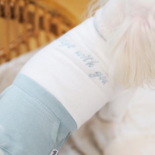 ツートーンポケットロンパース     犬 服 犬の服 ドッグウェア  ロンパース かわいい おしゃれ 秋 冬 ロールアップ 刺繍 パステル|best-friends|06