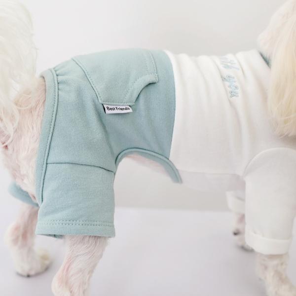 ツートーンポケットロンパース     犬 服 犬の服 ドッグウェア  ロンパース かわいい おしゃれ 秋 冬 ロールアップ 刺繍 パステル|best-friends|08