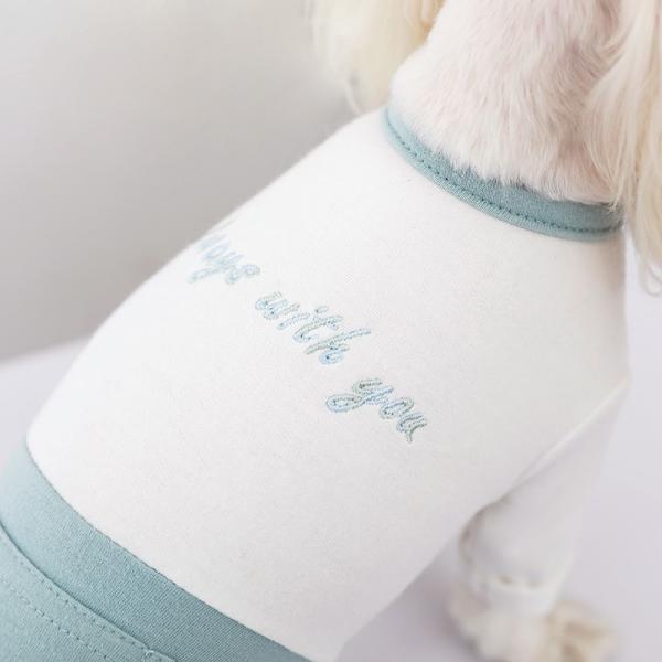 ツートーンポケットロンパース     犬 服 犬の服 ドッグウェア  ロンパース かわいい おしゃれ 秋 冬 ロールアップ 刺繍 パステル|best-friends|09