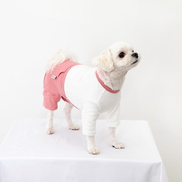 ツートーンポケットロンパース     犬 服 犬の服 ドッグウェア  ロンパース かわいい おしゃれ 秋 冬 ロールアップ 刺繍 パステル|best-friends|10