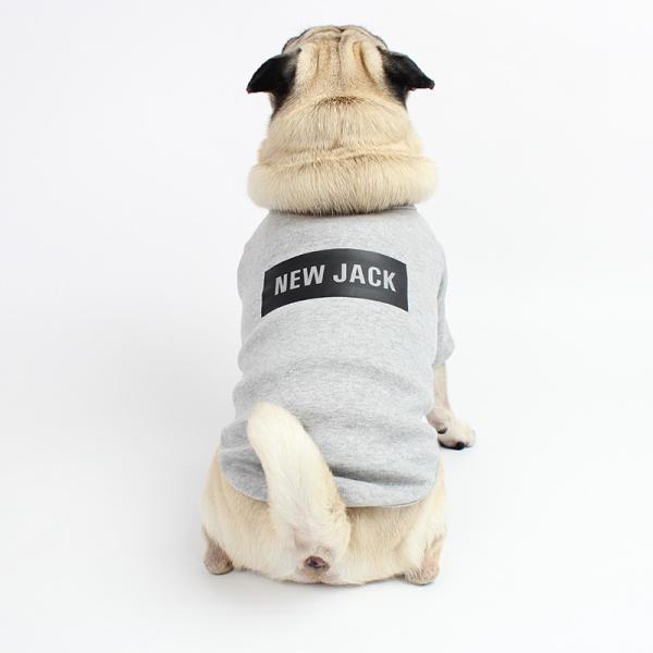 【NEW JACK】 ボックスロゴTシャツ 2Color / S,M,L  犬 服 犬の服 ドッグウェア 夜間 反射 プリント シンプル かっこいい おしゃれ ストリート ブランド best-friends 04