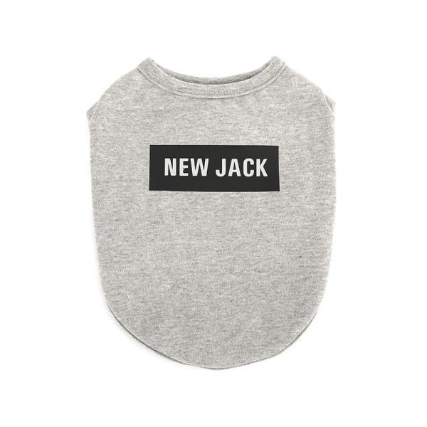 【NEW JACK】 ボックスロゴTシャツ 2Color / S,M,L  犬 服 犬の服 ドッグウェア 夜間 反射 プリント シンプル かっこいい おしゃれ ストリート ブランド best-friends 09