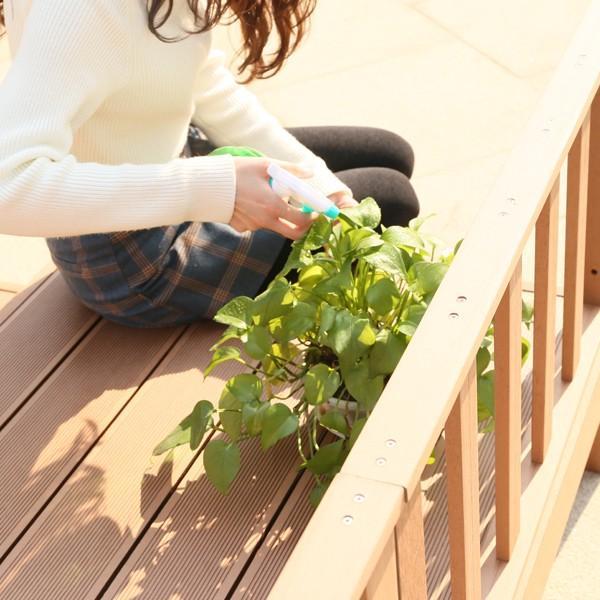 ウッドデッキ 人工木 7点セット 0.75坪 縁台 フェンス ステップ  バハユニー ガーデン DIY best-share 13