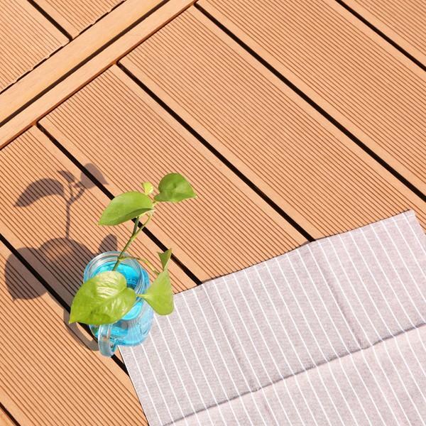 ウッドデッキ 人工木 7点セット 0.75坪 縁台 フェンス ステップ  バハユニー ガーデン DIY best-share 14