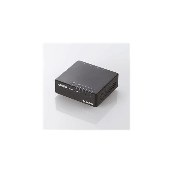 エレコム EHC-G05PA-B-K 1000BASE-T対応 スイッチングハブ 5ポート・ブラック