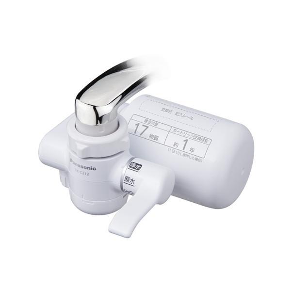 浄水器パナソニック蛇口TK-CJ12-W蛇口直結型浄水器ホワイト