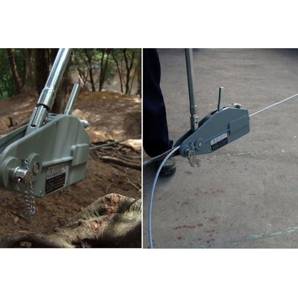 ハンドウィンチ 800kg チルホール 万能携帯ハンドウインチ 20m ワイヤー ロープ レバーホイスト 携帯ウィンチ 荷締機 工具 道具 送料無料|bestanswe|05