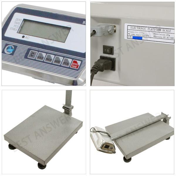 はかり 台はかり デジタル台はかり 最大100kg スケール 電子秤 風袋 計量機 測定機 業務用 低床|bestanswe|02