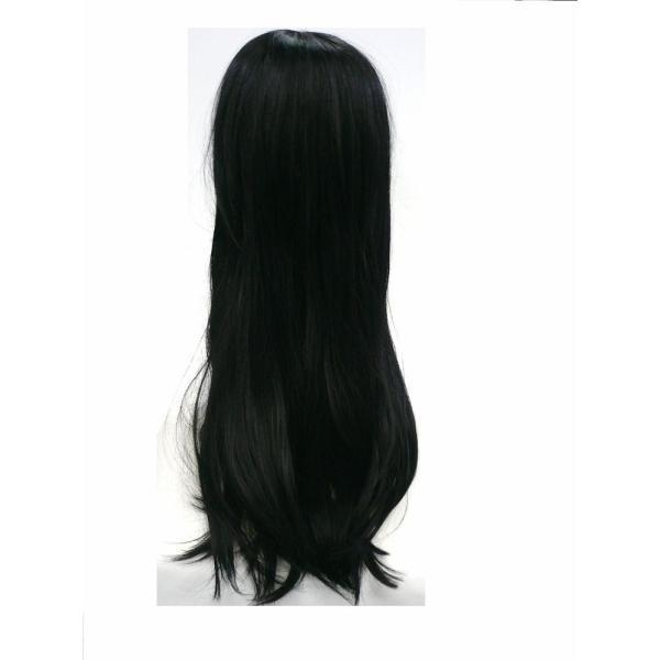 黒髪 ウイッグ ロング ストレート ぱっつん前髪