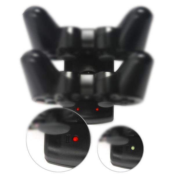 PS3 ワイヤレス コントローラ 充電器 2台同時充電対応 モーションコントローラも充電可能 プレステ プレイステーション |L|bestclick|04