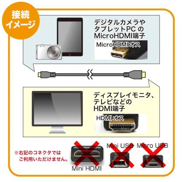 MacLab. Micro HDMI to HDMI ( タイプD to タイプA ) 変換 ケーブル 3.0m ブラック オス 4k ver 1.4 | 変換 アダプタ GoPro などに |L|bestclick|06