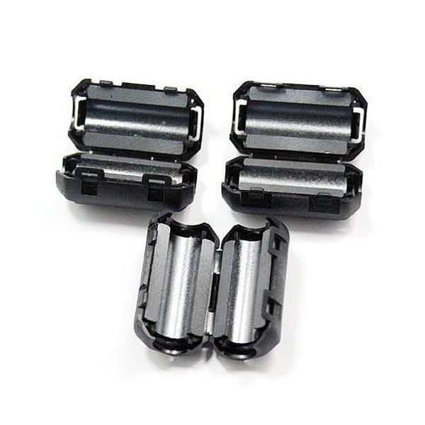 MacLab. フェライトコア ノイズフィルター パッチンコア 5.0mm 10個 セット ブラック ヒンジ式 ノイズ カット シールド クランプフィルタ  L bestclick 02