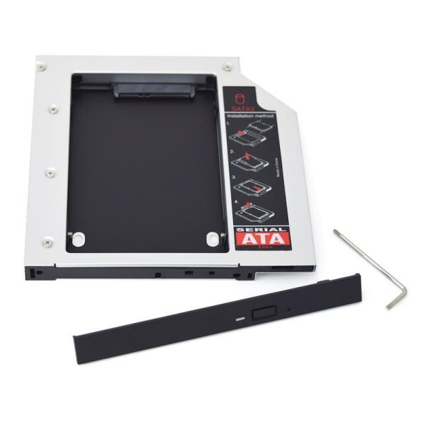 MacLab. 光学ドライブをHDDやSSDに置き換えキット セカンドHDDアダプター 12.7mm厚のSlimlineSATAドライブを搭載したノートPC対応|bestclick|02