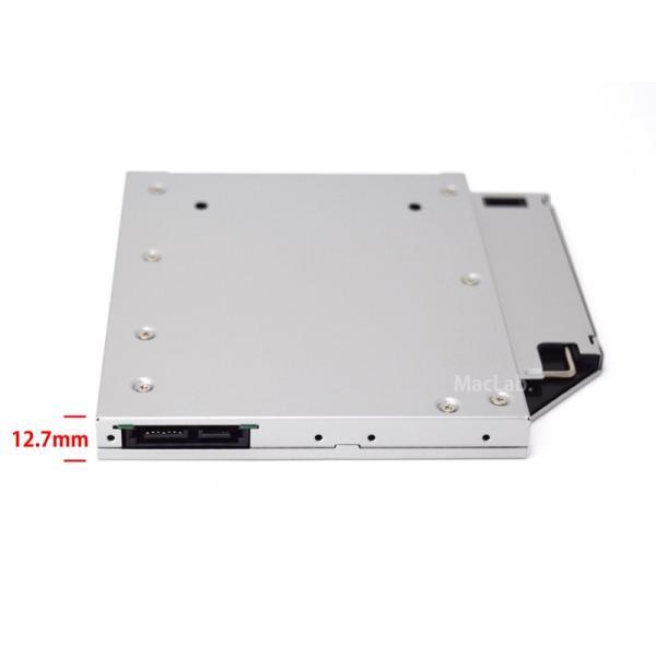 MacLab. 光学ドライブをHDDやSSDに置き換えキット セカンドHDDアダプター 12.7mm厚のSlimlineSATAドライブを搭載したノートPC対応|bestclick|04