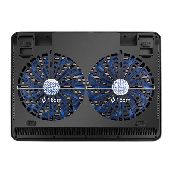 BTCPN2BL ノートパソコン 冷却台 ノートPC クーラー パッド 冷却ファン 搭載 冷え冷え シート 11.6〜17インチ対応 BTCPN2BL  BESTEK|bestek|03