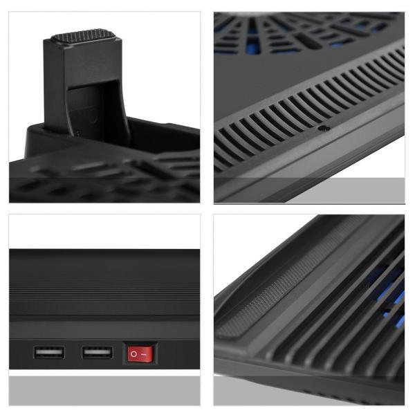 BTCPN2BL ノートパソコン 冷却台 ノートPC クーラー パッド 冷却ファン 搭載 冷え冷え シート 11.6〜17インチ対応 BTCPN2BL  BESTEK|bestek|05
