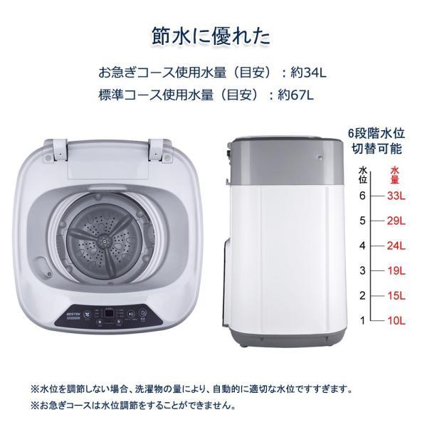 洗濯機 一人暮らし 3.8kg 小型 抗菌パルセーター 家庭用 ミニ洗濯機 格安 激安 小型洗濯機 BTWA01 BESTEK 送料無料|bestek|04