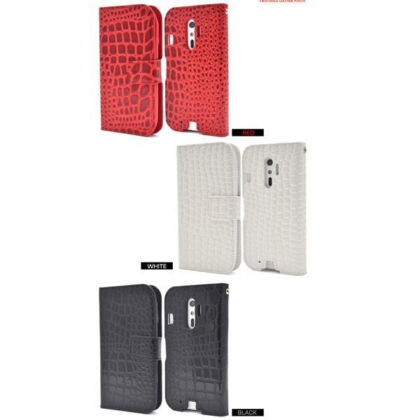 らくらくスマートフォン4 F-04J 手帳型 ケース スタンド機能 クロコダイル らくらくフォン4|bestline|03