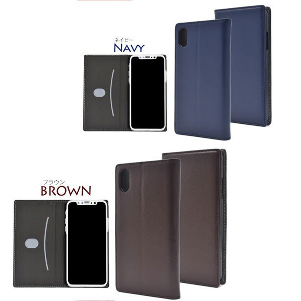 iPhoneX ケース 手帳型 iPhone X 薄型 カバー アイフォンX スマホケース 本革 羊本革|bestline|05