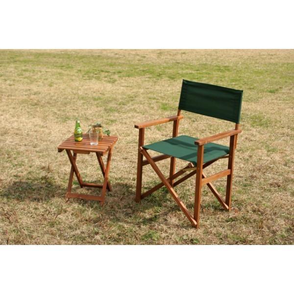 ディレクターチェア VFS−GC18JP グリーン チェア チェアー 椅子 イス おしゃれ 庭 屋外|bestline|03