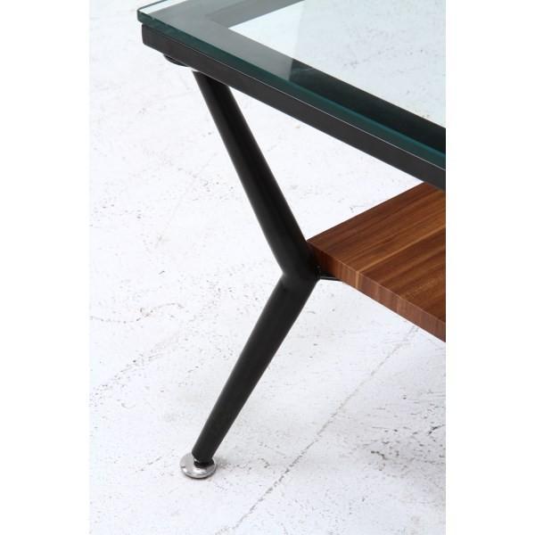 ガラスリビングテーブル クレア ダークブラウン ローテーブル テーブル おしゃれ|bestline|03