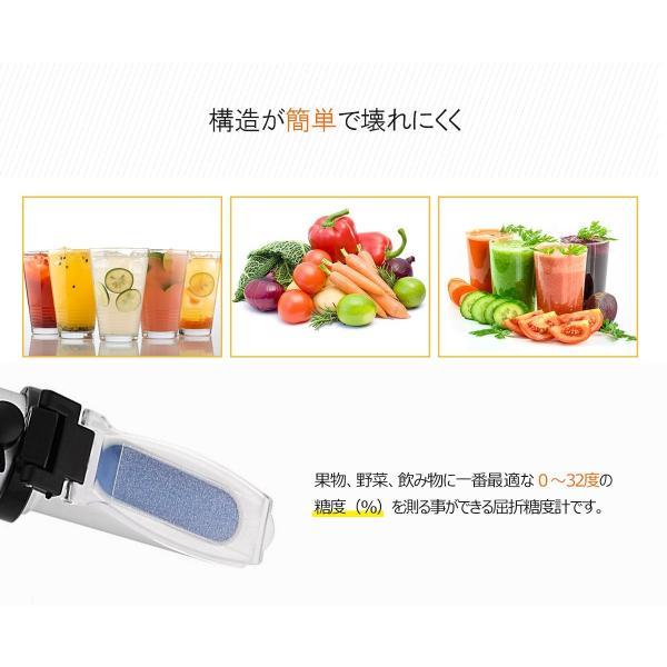 糖度計 ハンディタイプ ATC内蔵 屈折式糖度計 スポイト 専用ケース付 果物 野菜 飲み物などに一番最適な0〜32度の糖度を測定可能 小型 ポータブル ポケット|bestmatch|03