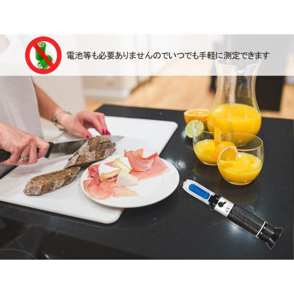 糖度計 ハンディタイプ ATC内蔵 屈折式糖度計 スポイト 専用ケース付 果物 野菜 飲み物などに一番最適な0〜32度の糖度を測定可能 小型 ポータブル ポケット|bestmatch|07