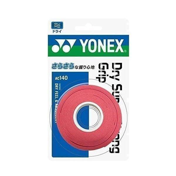 3個セット ヨネックス AC140 テニス バドミントン グリップテープ  3本入り コーラルレッド YONEX